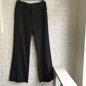 Nanette Lepore black pin stripe pants small sZ 2